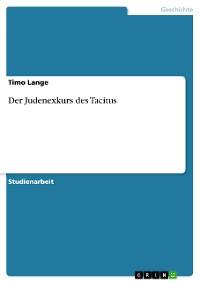 Cover Der Judenexkurs des Tacitus