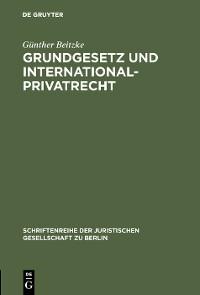 Cover Grundgesetz und Internationalprivatrecht