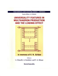 Cover Universality Features In Multihadron Production And The Leading Effect: Proceedings Of The 33rd Workshop