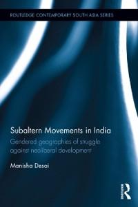 Cover Subaltern Movements in India