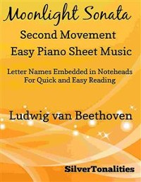 Cover Moonlight Sonata Second Movement Easy Piano Sheet Music