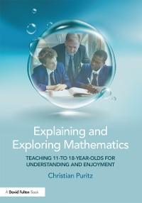 Cover Explaining and Exploring Mathematics