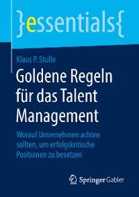 Cover Goldene Regeln für das Talent Management