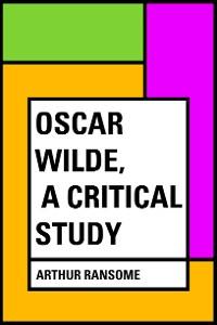 Cover Oscar Wilde, a Critical Study
