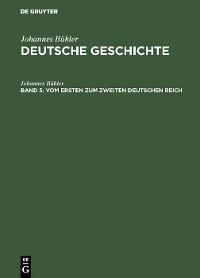 Cover Vom ersten zum zweiten Deutschen Reich