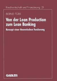 Cover Von der Lean Production zum Lean Banking