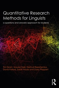 Cover Quantitative Research Methods for Linguists