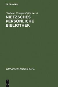 Cover Nietzsches persönliche Bibliothek
