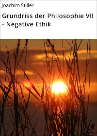 Cover Grundriss der Philosophie VII - Negative Ethik