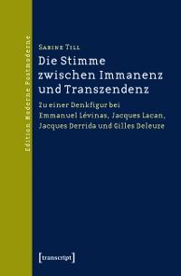 Cover Die Stimme zwischen Immanenz und Transzendenz