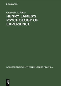 Cover Henry James's Psychology of Experience