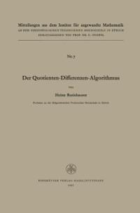 Cover Der Quotienten-Differenzen-Algorithmus