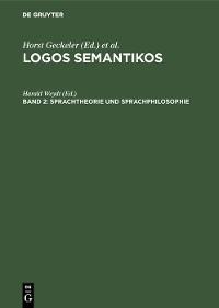 Cover Sprachtheorie und Sprachphilosophie
