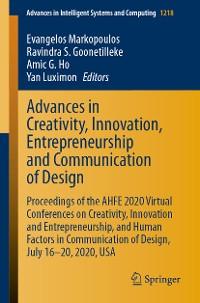 Cover Advances in Creativity, Innovation, Entrepreneurship and Communication of Design