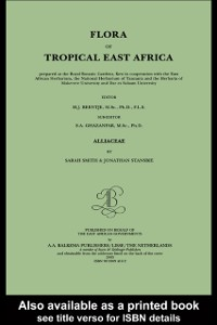 Cover Flora of Tropical East Africa - Alliaceae (2003)