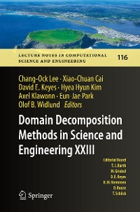 Cover Domain Decomposition Methods in Science and Engineering XXIII