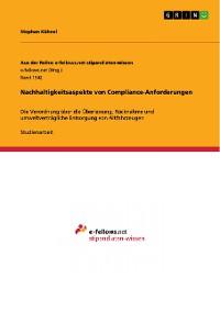 Cover Nachhaltigkeitsaspekte von Compliance-Anforderungen