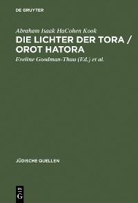 Cover Die Lichter der Tora / Orot HaTora