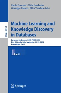 Cover Machine Learning and Knowledge Discovery in Databases