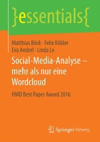 Cover Social-Media-Analyse – mehr als nur eine Wordcloud