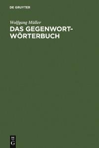 Cover Das Gegenwort-Wörterbuch