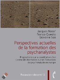 Cover Perspectives actuelles de la formation des psychanalystes