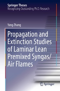 Cover Propagation and Extinction Studies of Laminar Lean Premixed Syngas/Air Flames