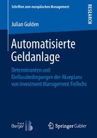 Cover Automatisierte Geldanlage