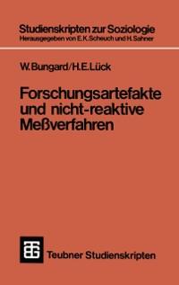 Cover Forschungsartefakte und nicht-reaktive Meverfahren
