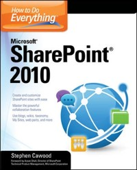 Cover How to Do Everything Microsoft SharePoint 2010