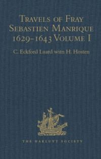Cover Travels of Fray Sebastien Manrique 1629-1643