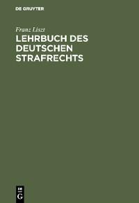 Cover Lehrbuch des deutschen Strafrechts