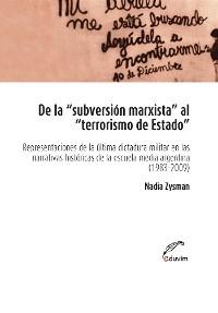 Cover De la subversión marxista al terrorismo de estado