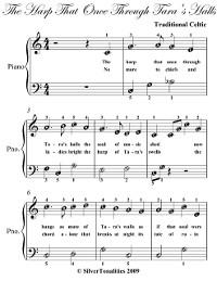 Cover Harp That Once Through Tara's Hall Easy Piano Sheet Music