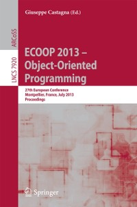 Cover ECOOP 2013 -- Object-Oriented Programming