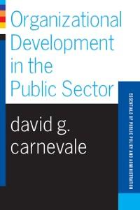 Cover Organizational Development In The Public Sector