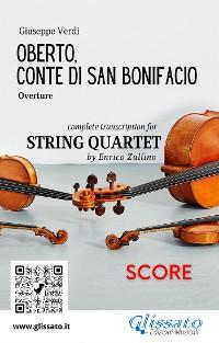 Cover Oberto,Conte di San Bonifacio (overture) String Quartet - Score