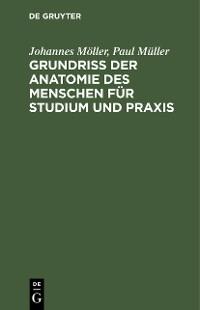 Cover Grundriss der Anatomie des Menschen für Studium und Praxis