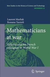 Cover Mathematicians at war