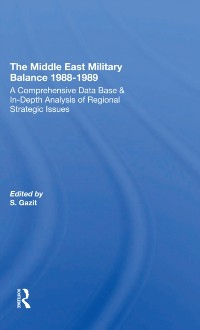 Cover Middle East Military Balance 1988-1989