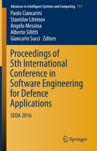 Cover Proceedings of 5th International Conference in Software Engineering for Defence Applications