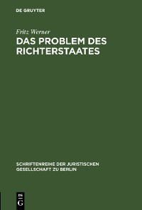 Cover Das Problem des Richterstaates