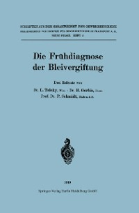 Cover Die Fruhdiagnose der Bleivergiftung