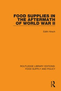 Cover Food Supplies in the Aftermath of World War II