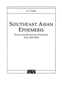 Cover Southeast Asian Ephemeris