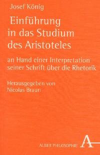 Cover Einführung in das Studium des Aristoteles