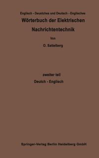 Cover Worterbuch der Elektrischen Nachrichtentechnik / Dictionary of Technological Terms Used in Electrical Communication