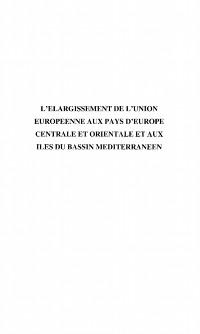 Cover Elargissement de l'Union eur