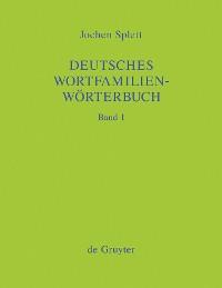 Cover Deutsches Wortfamilienwörterbuch