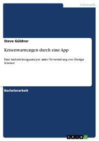 Cover Krisenwarnungen durch eine App
